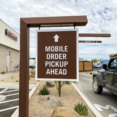 Chipotle Mobile Pickup Sign