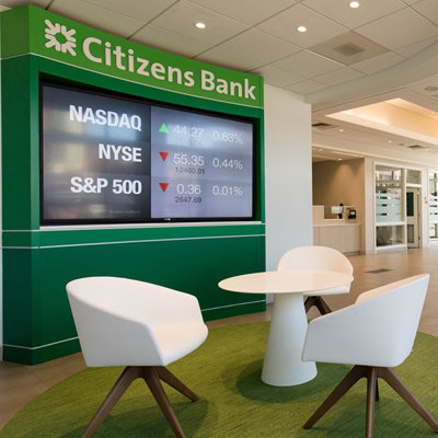 Citizen's Bank Curved Screen