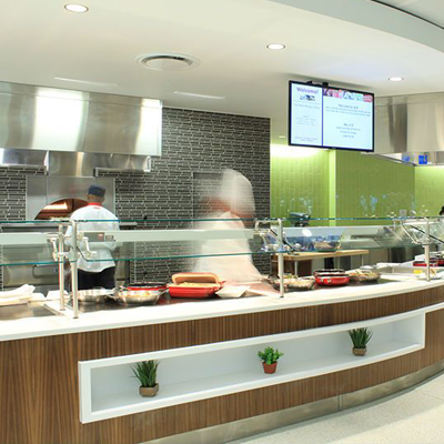 U.S. Air Force Dining Hall Service Counter